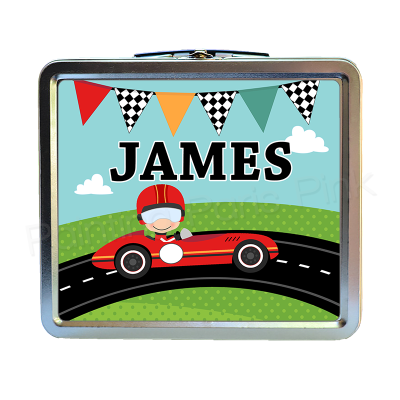 Race Car Lunch Box