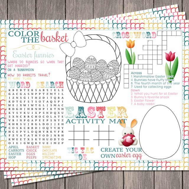 We made this FUN Easter Activity Mat for @ellaandanniemagazine spring…