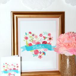 Mother's Day Wall Art & Card closeup